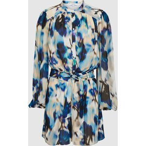 Reiss Tate - Printed Playsuit In Blue, Womens, Size 6 Reiss33806245006, Blue