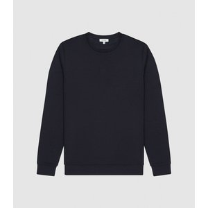 Reiss Terrance - Neoprene Loungewear Sweatshirt In Navy, Mens, Size Xxl Reiss41812830005, Navy