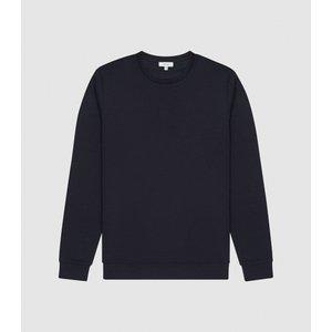 Reiss Terrance - Neoprene Loungewear Sweatshirt In Navy, Mens, Size Xl Reiss41812830004, Navy