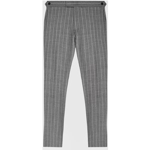 Reiss Tijuana - Pinstripe Slim Fit Trousers In Grey, Mens, Size 34 Reiss21605043034, Grey