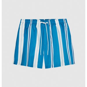 Reiss Tiki - Striped Swim Shorts In Airforce Blue, Mens, Size Xs Reiss43800733000, Airforce Blue