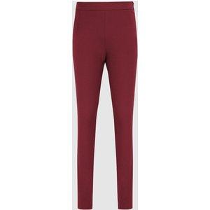 Reiss Tyne - Skinny Trousers In Dark Aubergine, Womens, Size 14s Dark Red Reiss26604082155, Dark Red