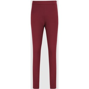 Reiss Tyne - Skinny Trousers In Dark Aubergine, Womens, Size 8s Dark Red Reiss26604082152, Dark Red
