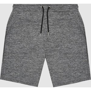 Reiss Vimo - Melange High Stretch Jersey Shorts In Charcoal, Mens, Size Xs Reiss41803940000, Charcoal