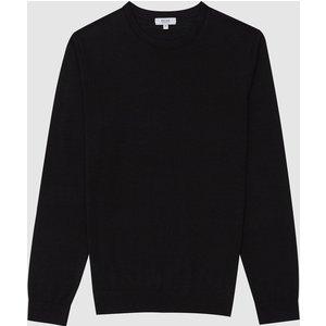 Reiss Wessex - Merino Wool Jumper In Black, Mens, Size Xxl Reiss51706520005, Black
