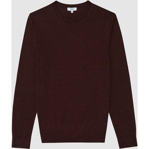Reiss Wessex - Merino Wool Jumper In Bordeaux, Mens, Size Xl Red Reiss51706564004, Red