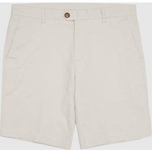 Reiss Wicket - Casual Chino Shorts In Chalk, Mens, Size 28 Reiss24600203028, Chalk