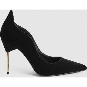 Reiss Zhane Court - Velvet Point Toe Heels In Black, Womens, Size 8 Reiss85710120041, Black