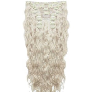 18 Beach Wave Double Hair Set - Iced Blonde Beauty Works Online Beach 18 Ib
