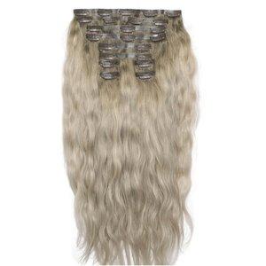 18 Beach Wave Double Hair Set - Scandinavian Blonde Beauty Works Online Beach 18 Scb