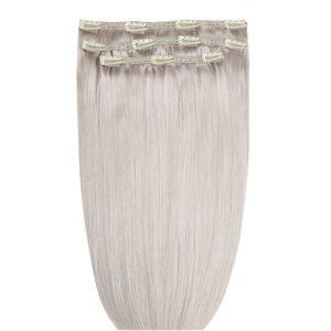 18 Deluxe Remy Instant Clip-in Extensions - Silver Beauty Works Online Clip 18 Silver