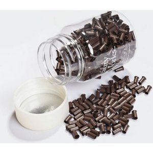 Copper Micro Rings Dark Brown 500 Pieces Beauty Works Online Mr Cp Dbrwn 500