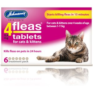 Johnsons 4 Fleas Cats & Kittens Tablets 6 Treatment Pack