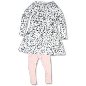 M&co Animal Print Dress And Leggings Set (9mths-5yrs)  - Multicolour 303297301700285, Multicolour