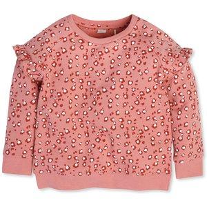 M&co Frill Sleeve Animal Print Sweatshirt (9mths-5yrs)  - Pink 303158601300317, Pink