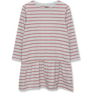 M&co Kids Girls Long Sleeve Stripe Dress - Grey 302987500200284, Grey