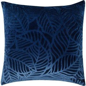 M&co Leaf Print Cushion  - Navy 404053801030000, Navy