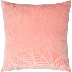 M&co Leaf Print Cushion  - Pink 404053801300000, Pink