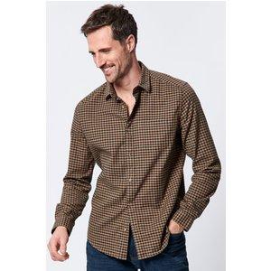M&co Mens Gingham Shirt  - Rust 901443800710124, Rust