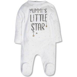 M&co Mummy?s Little Star Sleepsuit (tiny Baby-18mths)  - White 303233700300278, White