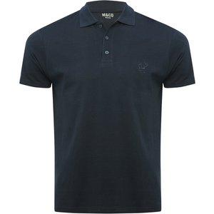 M&co Plain Polo Shirt  - Navy 901535301030122, Navy