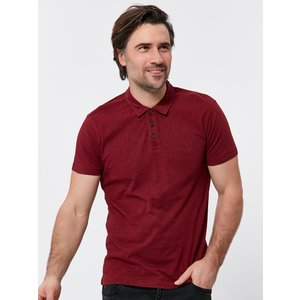 M&co Short Sleeve Polo Shirt  - Wine Red 901462401610122, Wine Red