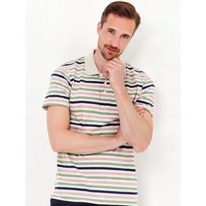 M&co Stripe Polo Shirt  - Grey Marl 901543405460121, Grey Marl
