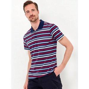 M&co Stripe Polo Shirt  - Navy 901543401030121, Navy