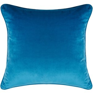 M&co Teal Velour Cushion  - Teal 403951301980000, Teal