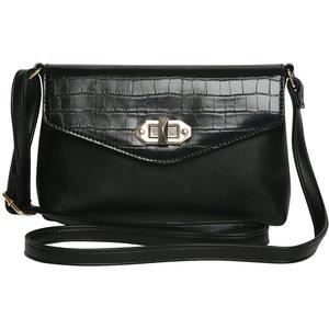 M&co Twist Lock Cross Body Bag  - Black 502811600100000, Black