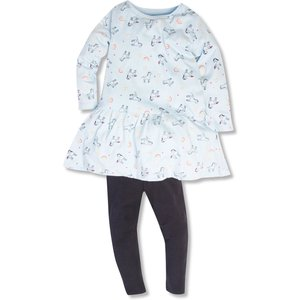 M&co Unicorn Print Dress And Leggings Set (9mths-5yrs)  - Multicolour 303295701700319, Multicolour