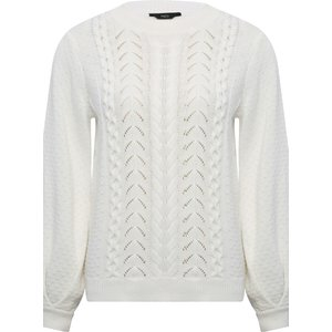 M&co Women's Cable Knit Jumper White 109348700300010, White