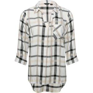 M&co Women's Check Shirt Ivory 100813700440016, Ivory
