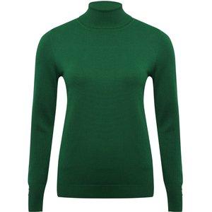 M&co Women's Ladies Roll Neck Jumper Green 108918800900014, Green