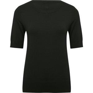 M&co Women's Ladies Short Sleeve Jumper Black 108308200100008, Black