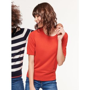M&co Women's Ladies Short Sleeve Jumper Red 108308201200012, Red