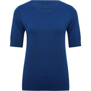 M&co Women's Ladies Short Sleeve Jumper Cobalt 108308209720010, Cobalt