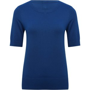 M&co Women's Ladies Short Sleeve Jumper Cobalt 108308209720016, Cobalt