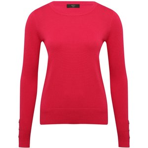 M&co Women's Petite Crew Neck Jumper Pink 191039601300016, Pink