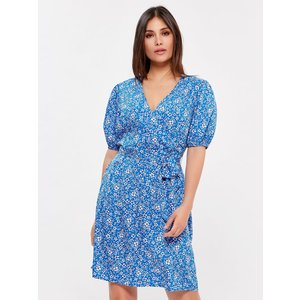 M&co Women's Wrap Dress Blue 108683901000016, Blue
