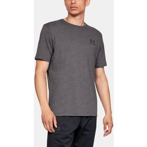 Under Armour Men's Ua Sportstyle Left Chest Short Sleeve Shirt Gray 192007421428, Gray