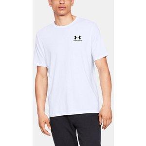 Under Armour Men's Ua Sportstyle Left Chest Short Sleeve Shirt White 192007419258, White