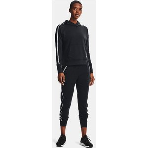 Under Armour Women's Ua Rival Terry Taped Hoodie Black 194514125004, Black