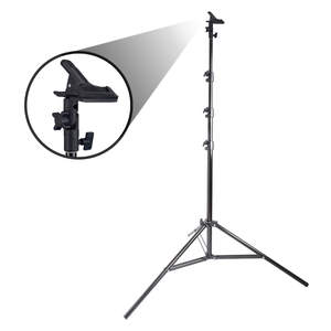 Pixapro 240cm Air Cushioned Studio Light Stand With Reflector Clamp