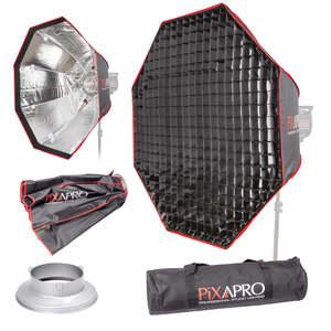 Pixapro 90cm (35.4) Octagonal Easy-open Umbrella Softbox With 4cm Grid