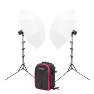 Pixapro Citi300 Pro Twin Umbrella Kit With Backpack