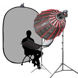 Pixapro Commercial Headshot Interview Documentary Complete  Lighting Kit (led200b Mkiii)