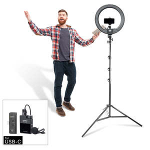 Pixapro Rico240b Single-light Self-tape Audition Kit With Comica Boomx-d For Smartphones