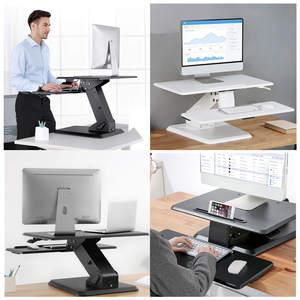 Pixapro Tessa-elite Table Top Adjustable Height Workstation Desk - Black