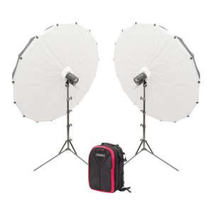 Pixapro Twin Parabolic Portable Citi300 Pro Umbrella Kit With Backpack
